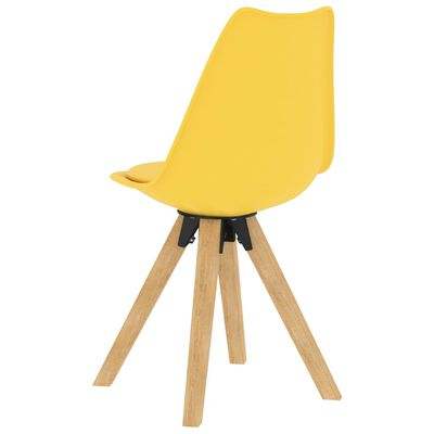 vidaXL Set mobilier de bucătărie, 5 piese, galben