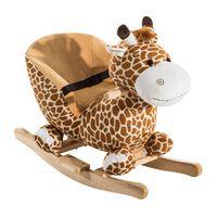 Leagan In Lemno Girafa Pentru Copii In Morbido Plus  Cu Sunete