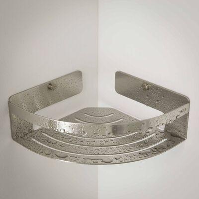 Tiger Coș de colț pentru baie Caddy, argintiu, 1400430946