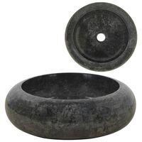 vidaXL Chiuvetă, negru, 40 x 12 cm, marmură