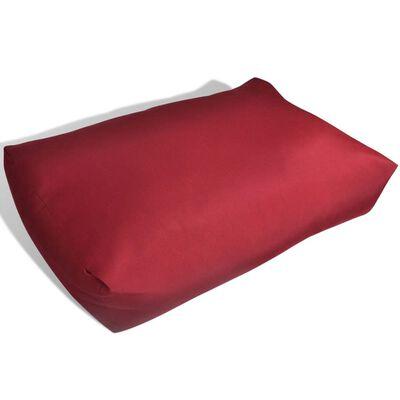 Pernă spate tapițată, 60 x 40 x 20 cm, Roșu carmin