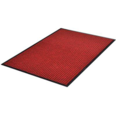 vidaXL Covoraș de ușă, roșu, 160 x 220 cm, PVC