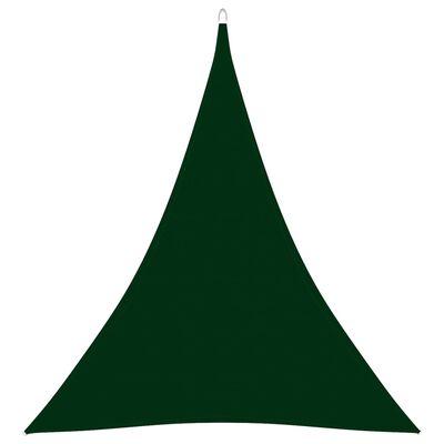 vidaXL Parasolar, verde închis, 4x5x5 m, țesătură oxford, triunghiular