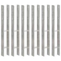 vidaXL Ancore de gard, 6 buc., argintiu, 7x6x60 cm, oțel galvanizat