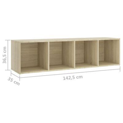 vidaXL Set de dulapuri TV, 4 piese, stejar sonoma, PAL