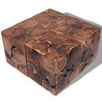 vidaXL Taburete/Măsuță de cafea din lemn de tec masiv