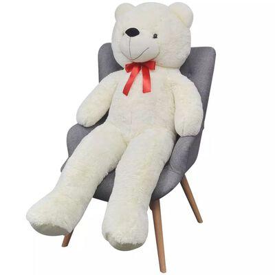 vidaXL Ursuleț de pluș moale de jucărie XXL, alb, 85 cm