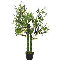 vidaXL Plantă artificială bambus cu ghiveci, verde, 110 cm