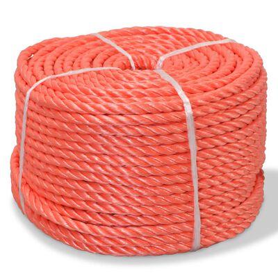 vidaXL Frânghie împletită polipropilenă 8 mm 200 m, portocaliu