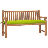 vidaXL Bancă de grădină cu pernă, 150 cm, lemn masiv de tec