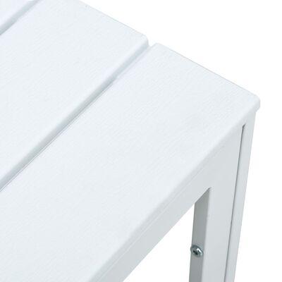 vidaXL Măsuță de cafea, alb, 78 x 78 x 74 cm, HDPE, aspect lemn