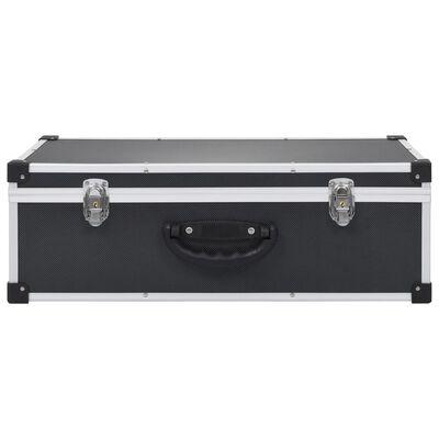 vidaXL Carcasă pentru 80 CD-uri, aluminiu, ABS, negru