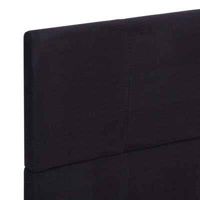 vidaXL Cadru de pat, negru, 140 x 200 cm, material textil