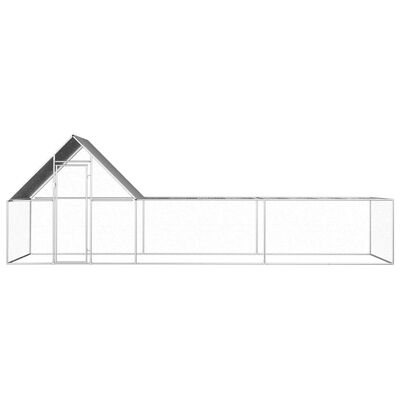 vidaXL Coteț pentru păsări, 6 x 2 x 2 m, oțel galvanizat