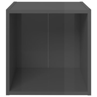 vidaXL Set de dulapuri TV, 5 piese, gri extralucios, PAL