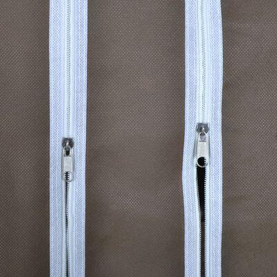 vidaXL Dulap material textil compartimente și tije 45x150x176 cm maro