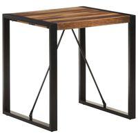 vidaXL Masă bucătărie, 70x70x75 cm, lemn masiv acacia finisaj sheesham