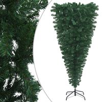 vidaXL Upside-down Artificial Christmas Tree with Stand Green 240 cm