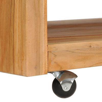 vidaXL Măsuță de cafea, 110 x 60 x 40 cm, lemn masiv de tec
