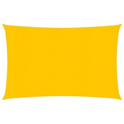 vidaXL Pânză parasolar, galben, 2,5x4,5 m, HDPE, 160 g/m²