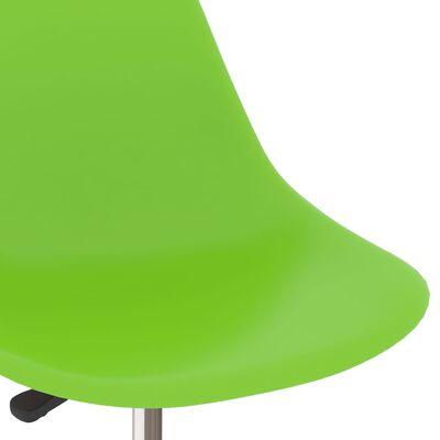 vidaXL Scaune de bucătărie pivotante, 2 buc., verde, PP