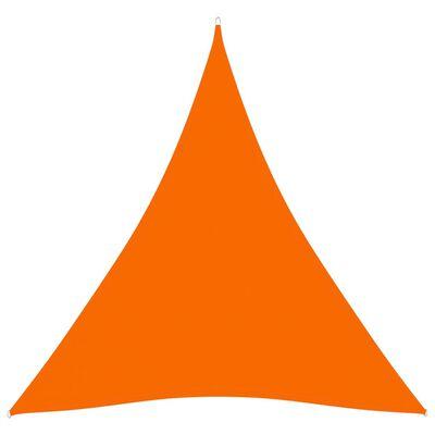 vidaXL Parasolar, portocaliu, 6x6x6 m, țesătură oxford, triunghiular