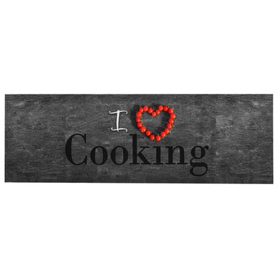 vidaXL Covoraș de bucătărie, lavabil, Love, 60 x 180 cm