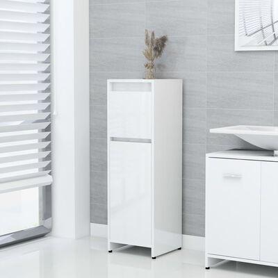 vidaXL Dulap de baie, alb extralucios, 30 x 30 x 95 cm, PAL
