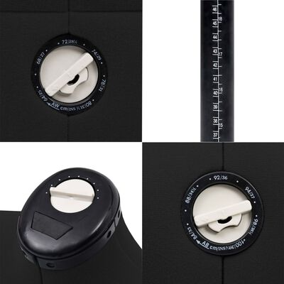 vidaXL Formă pentru rochie femeie reglabilă negru, dimensiune S 33-40, Negru