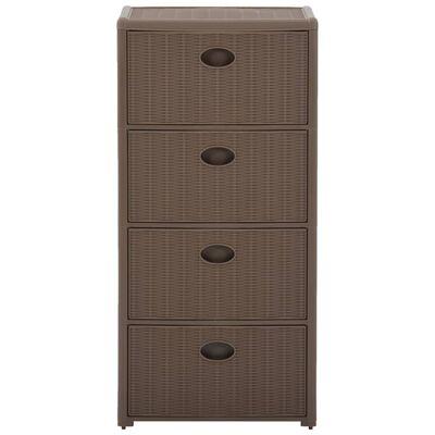 vidaXL Comodă cu 4 sertare, gri taupe, 40x40x80 cm
