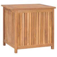 vidaXL Ladă de depozitare grădină, 60x50x58 cm, lemn masiv de tec
