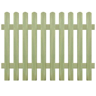 vidaXL Gard din țăruși, 170 x 120 cm 6/9 cm, lemn de pin tratat,