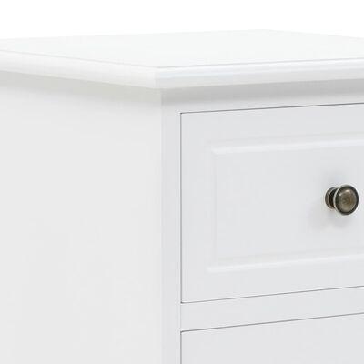 vidaXL Noptieră, MDF și lemn de pin, 35 x 32 x 59 cm