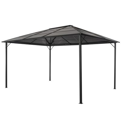 vidaXL Pavilion cu acoperiș, negru, 4 x 3 x 2,6 m, aluminiu