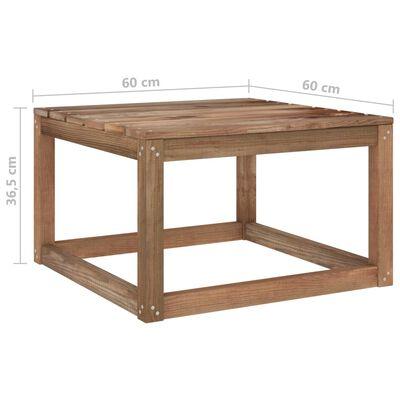 vidaXL Set mobilier grădină paleți cu perne, 7 piese, lemn pin tratat