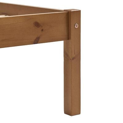 vidaXL Cadru de pat cu 4 sertare maro miere 160x200 cm lemn masiv pin