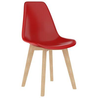 vidaXL Set mobilier de bucătărie, 5 piese, roșu