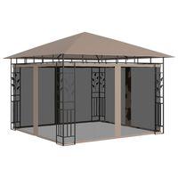 vidaXL Pavilion cu plasă anti-țânțari, gri taupe, 3x3x2,73 m, 180 g/m²