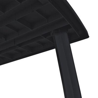 vidaXL Set mobilier de exterior, 11 piese, antracit, plastic
