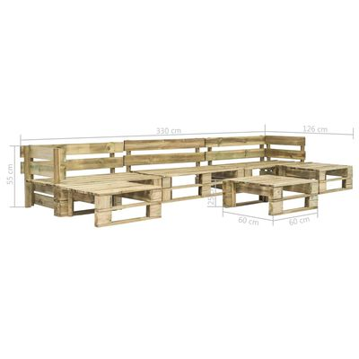 vidaXL Set mobilier de grădină din paleți, 6 piese, lemn