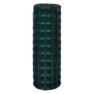 vidaXL Euro gard, verde, 10 x 1,7 m, oțel