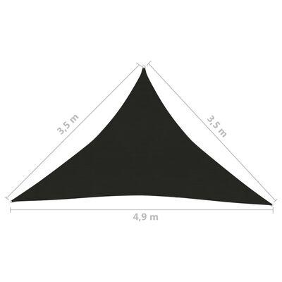 vidaXL Pânză parasolar, negru, 3,5x3,5x4,9 m, HDPE, 160 g/m²