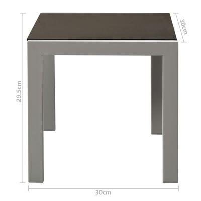 vidaXL Șezlonguri de plajă cu masă, 2 buc., negru, oțel & textilenă