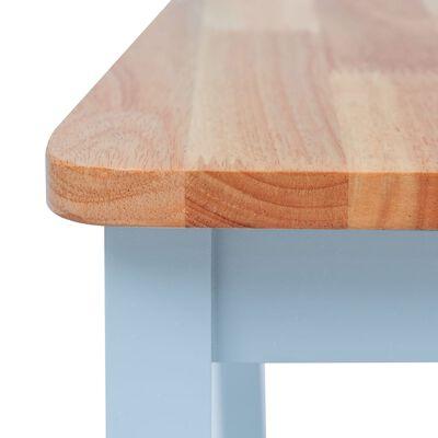 vidaXL Scaune de bucătărie, 2 buc, gri și lemn deschis, lemn de hevea