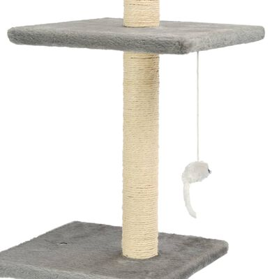 vidaXL Ansamblu pisici, stâlpi funie sisal, 260 cm Gri