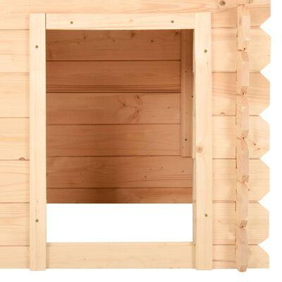 vidaXL Cușcă de câine, 100x80x100 cm, lemn masiv de pin 14 mm