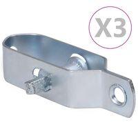 vidaXL Dispozitive tensionare sârmă gard 3 buc. argintiu 90 mm oțel