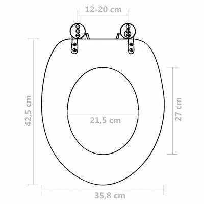 vidaXL Capac WC, negru, MDF, model simplu