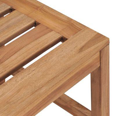 vidaXL Scaune de grădină, 2 buc., lemn masiv de tec