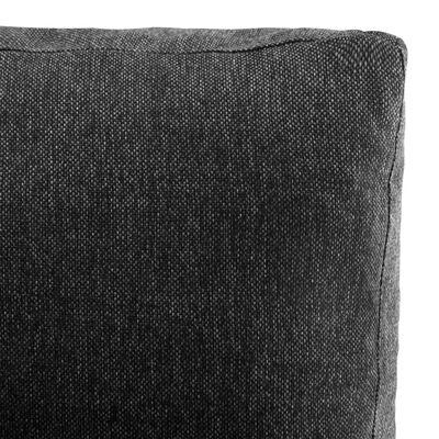 vidaXL Canapea modulară, negru, piele ecologică